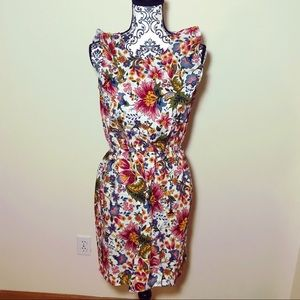 Floral City Streets Dress Ruffled